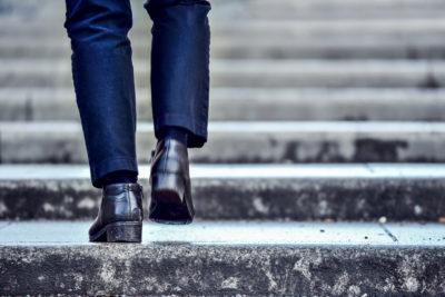 Stappenplan, weg omhoog, stap voor stap