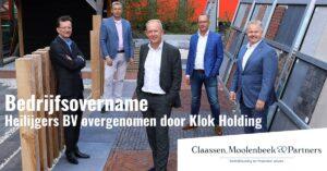 Bouw- en ontwikkelbedrijf Heilijgers BV overgenomen door Klok Holding